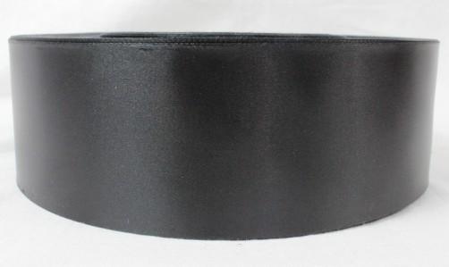 Лента сатин 60мм*200м черн.,бордо