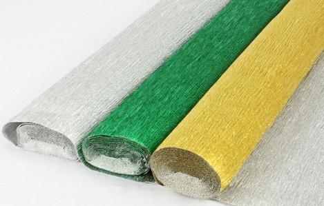 Креп метализированный