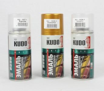 Спрей краска хром,золото KUDO 210мл