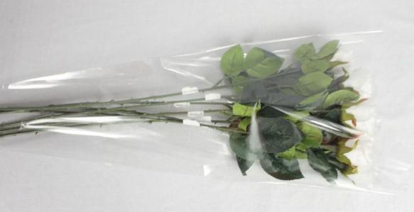 Пакет для цветка треуг-к 60*30*6см прозр.+прозр