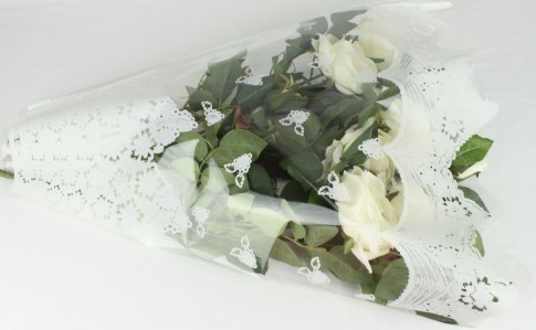 Пакет для цветка треуг-к 60*50см рис+рис