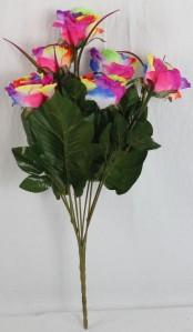 Букет роза цветная 7гол*20шт