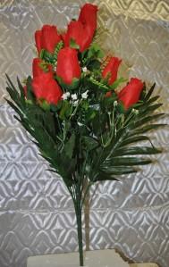 Букет роза бутон 14гол*10шт