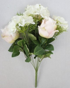 Букет роза+гортензия 8гол