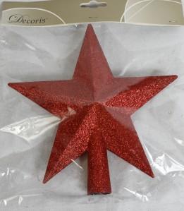 Макушка елочная Звезда делюкс 19см