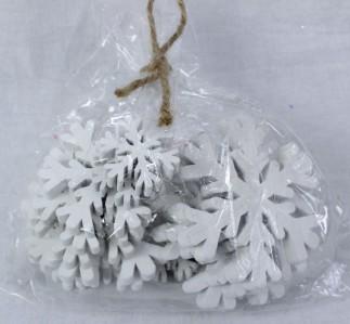 Снежинка дерев.129CAN151081W*18шт