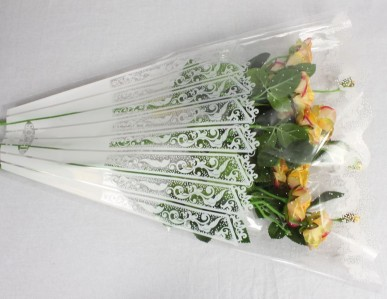 Пакет для цветка треуг-к 50*45*9см рис+рис