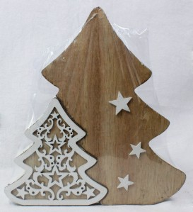 Елка дерев.двойная 16,5см LK17B008