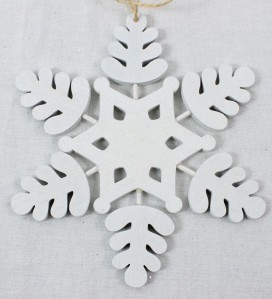 Игрушка снежинка дерев.14см B6ZL132