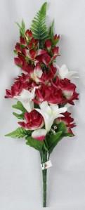Букет роз+гладиолус Б10435 букет роз+гладиолус 13гол 73см