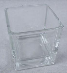Стекло ваза 2507 Кубик-6 6*6*6см