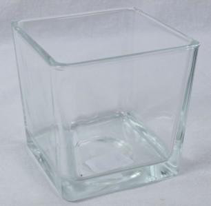 Стекло ваза 2843 Кубик Плюс 10,5*10,5*10см