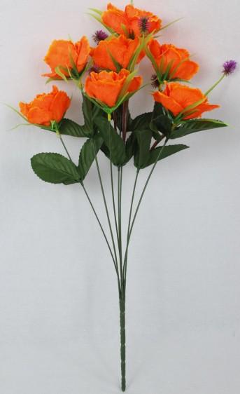 Букет роза+осока 7гол*50шт*56см