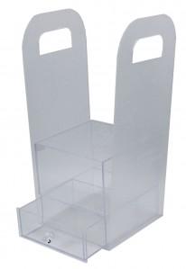 Пластиковый куб для цветов с ящиком 000720-138 15*15*14см