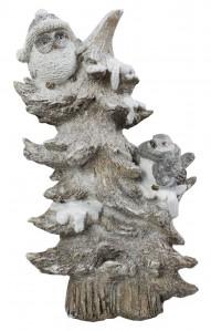 Елка с совами керамика18,5*11,5*30,5 РР0023