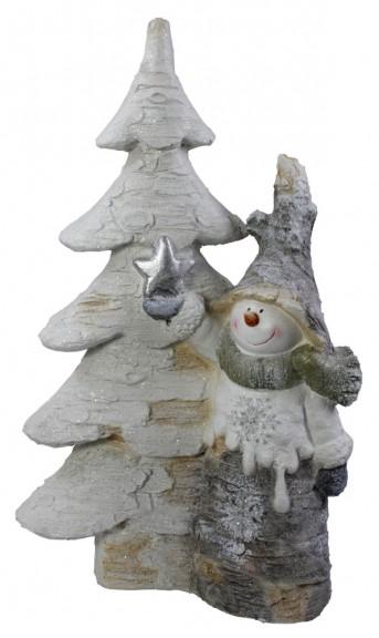 Елка керамическая+снеговик ZX0167 36*18.5*60.5см