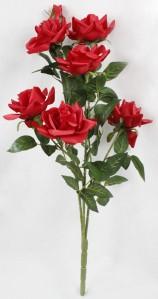 Куст розы 6гол+2бутона 34шт 70см 069