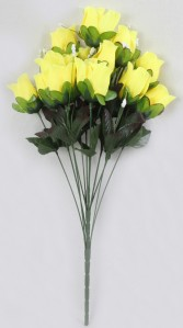 Б10823 букет роза бутон 13гол*10шт*58см