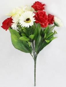 Букет роза+лилия+ромашка 10гол*24шт 27 46см