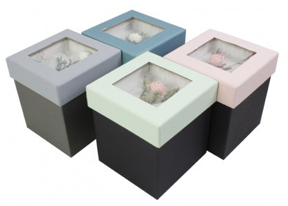 Коробка квадратная Букет 11,5*11,5*12,7 1шт