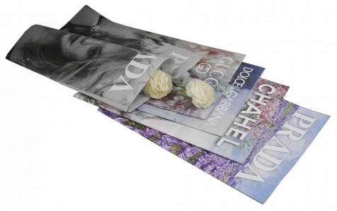 Бумага листовя Стилизованная 50см х 70см 10листов  Prada.Chanel.Dolce