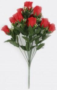 Букет розы бутон 12гол 10шт 52см