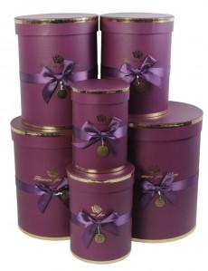 Коробка Цилиндр набор 6шт 21 х 25 х 5 Flowers for you