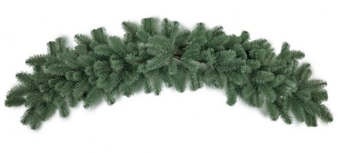 Гирлянда хвойная люкс литая 140см зелен