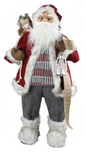 Санта-Клаус с подарками и фонариком 42х25х80см