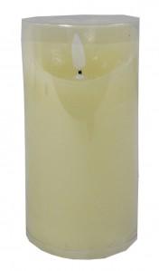 Светодиодная свеча мерцающая 7,5х7,5х15см 1шт.