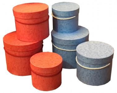 Коробки набор 3шт цилиндр 23*19,5см