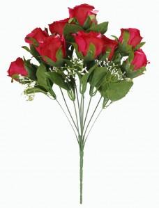Букет розы открытой 9гол 40см 2шт