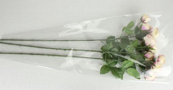 Пакет для цветка треуг-к 70*35*13см прозр.+прозр.