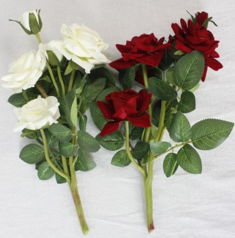 Б9917 куст барх.розы горшеч.5гол*32см