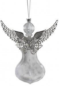 Подвеска ангел стекло 21см PS0025