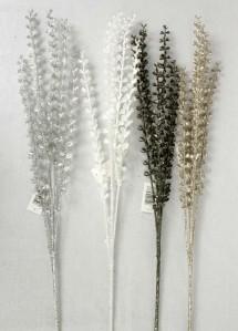 Ветка лаванда зол.,серебро S419