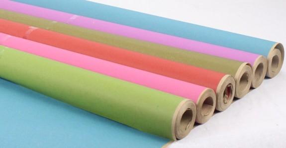 Бумага крафт однотонный цветной 60см*10м