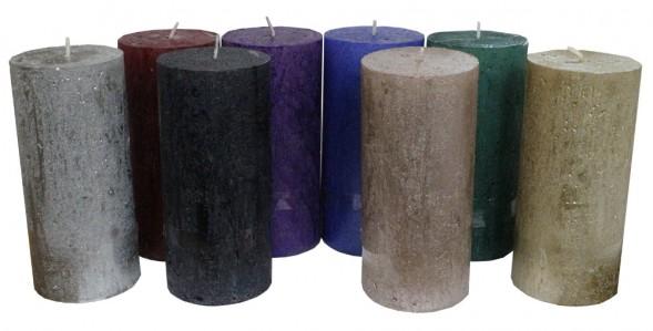Свеча перламутровая 70*150