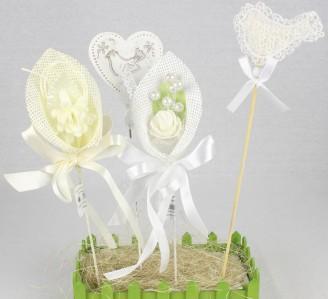 Топер свадьба цветы в ассортименте