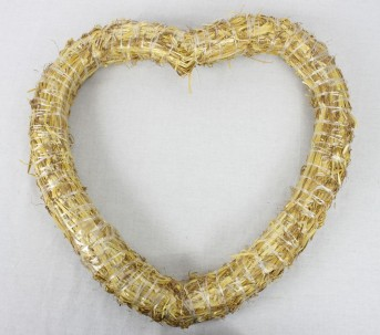 Сердце солома 35см 65,0