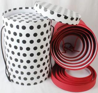 Коробка шляпная ромб,круг,квадрат 5шт