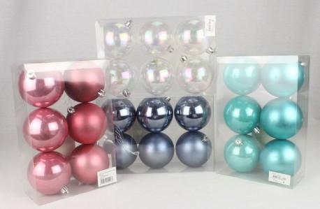 Игрушка набор шаров глянцевых,матовых 80мм*6шт