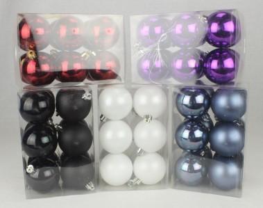 Игрушка набор шаров глянцевых,матовых 60мм*12шт