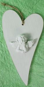 Сердце табличка+ангел AN0104