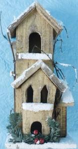 Дом дерев.светяшийся НСМ148930см