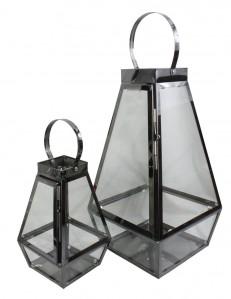 Подсвечник стекло +металл 22*42*33,14*24*14,5 2шт ТТ0092