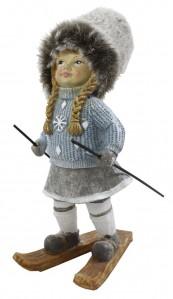 Фигурка кукла лыжница 8*817см РР0186