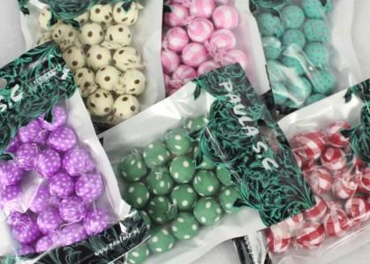 Шарики цветные тканевые KS10