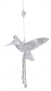 Подвеска птица акрил 32см S0023
