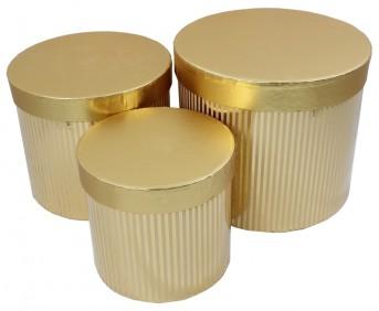 Коробка полоска золото,серебро 13шт
